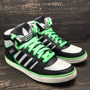 Adidas Green and Black High Tops Size 9